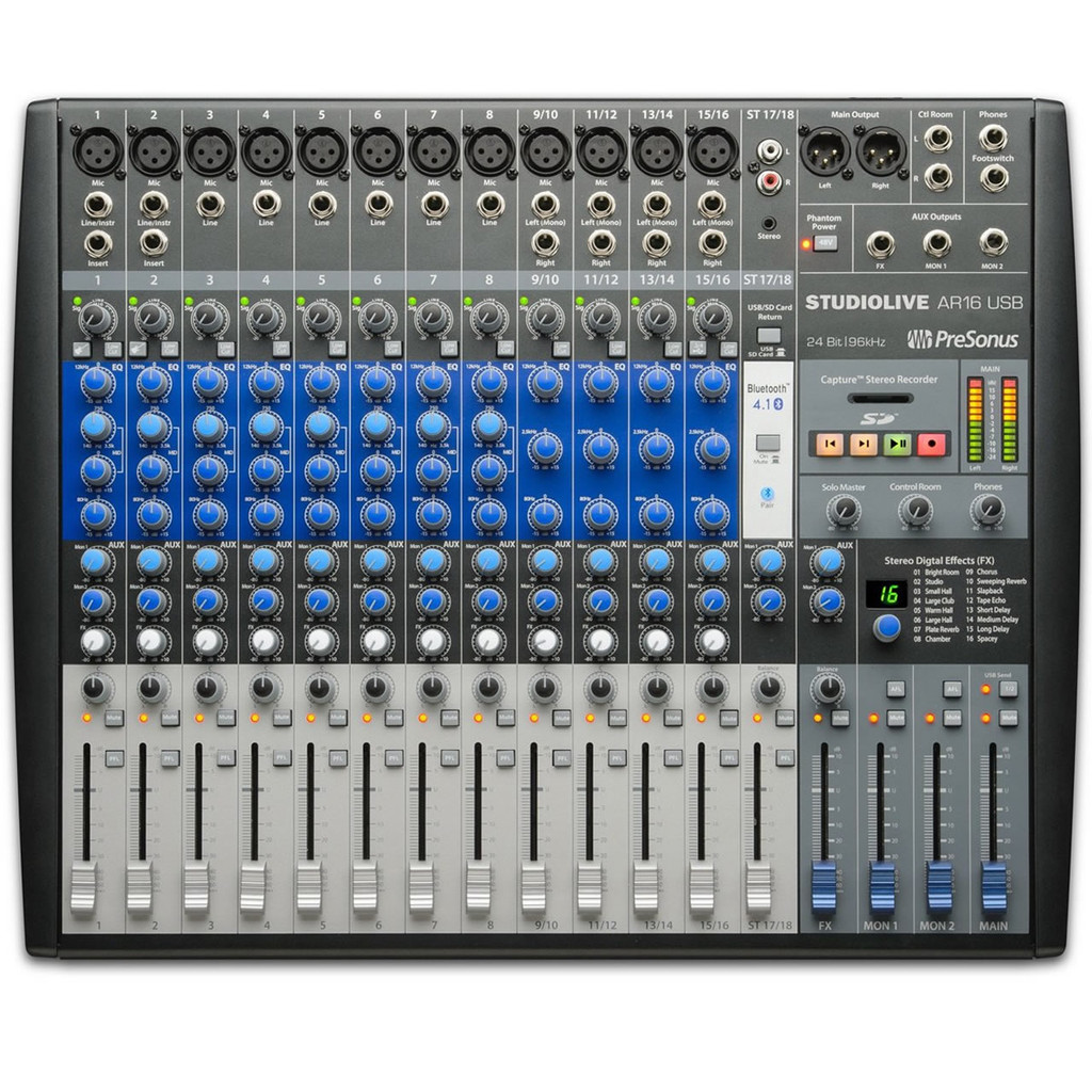 PRESONUS AR16 18- Channel Digital/Analog Mixer