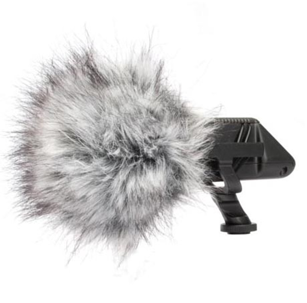 Rode SVP Stereo Videomic Pro with dead cat