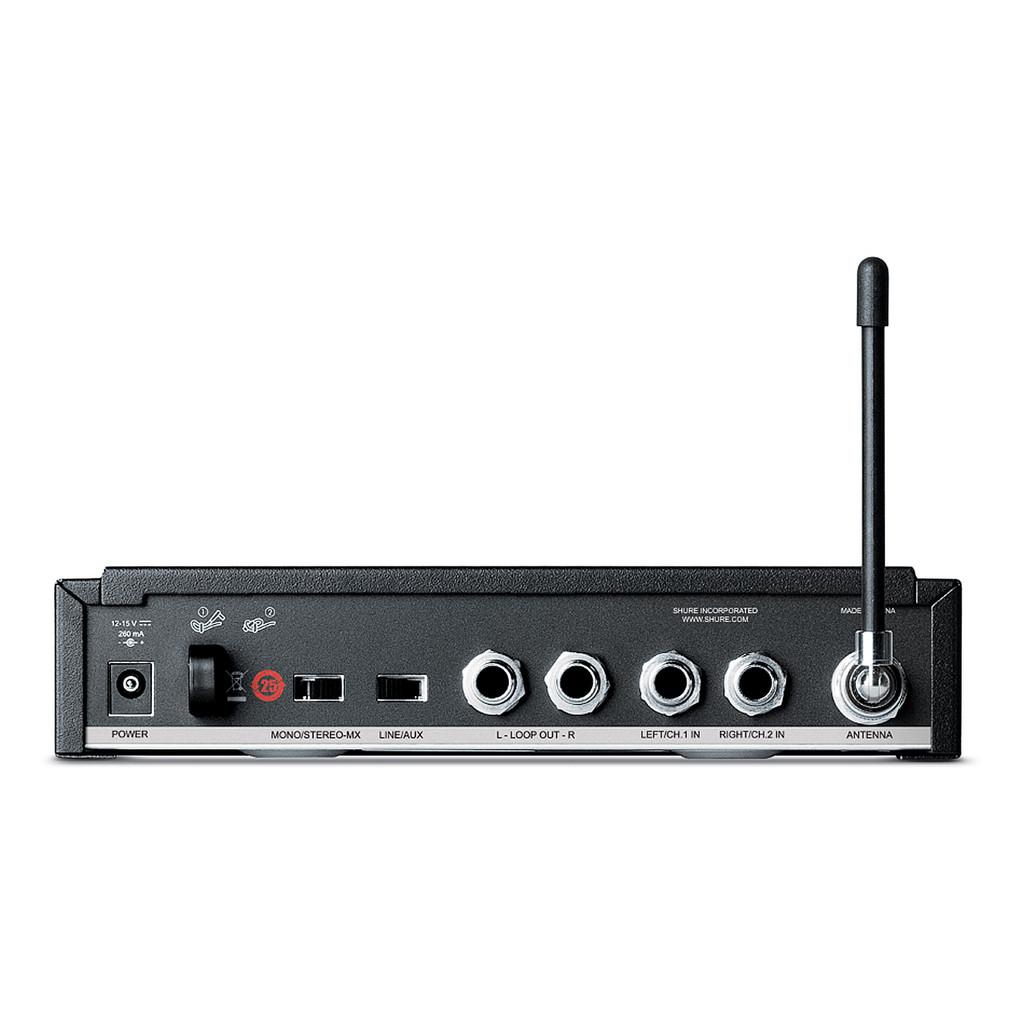 Shure P3TRA215CL Wireless In-Ear System w/ SE215CL Earphones (back)