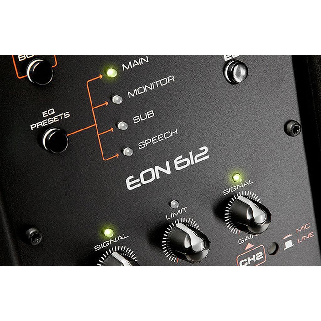 JBL EON612 back panel cutaway