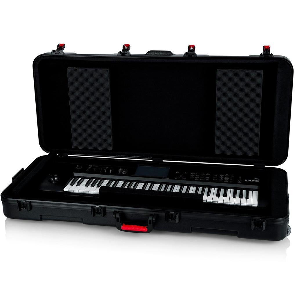 Gator Cases GKPE61TSA 61 Note Keyboard Case w/ wheels open