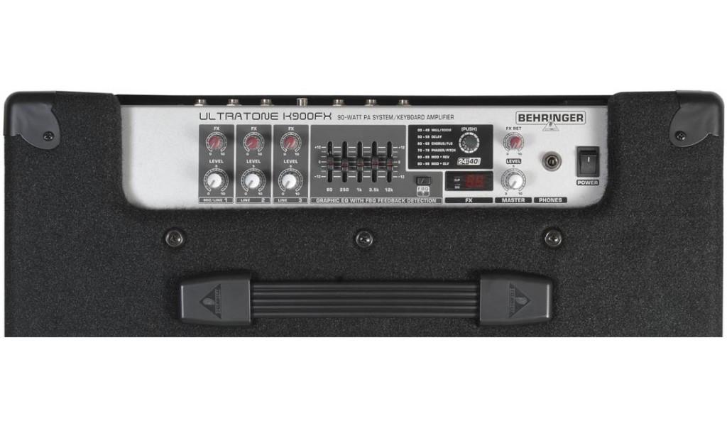 Behringer K900FX 90w 3ch Keyboard Amp top