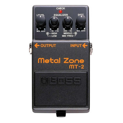 Boss MT2 Metal Zone Distortion Pedal - Overhead view