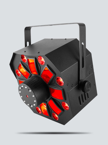 CHAUVET SWARMWASHFX 4 in 1 LED With RGBAW Rotating Derby, RGB+UV Wash, Red / Green Laser And Ring O