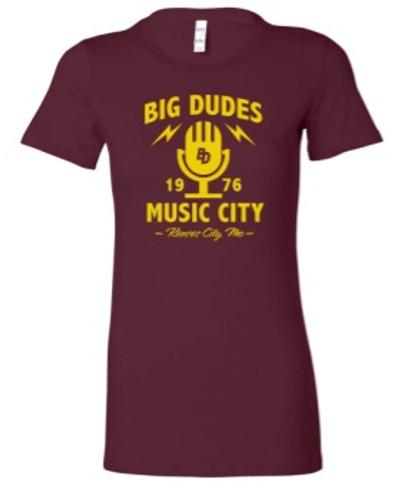 BIG DUDES 2390 Women's Retro 1976 Mic