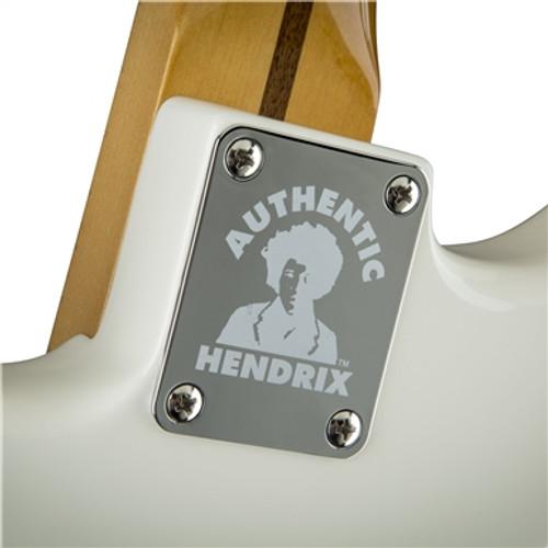 Fender Hendrix Stratocaster w/ Reverse Headstock Neck Plate Closeup