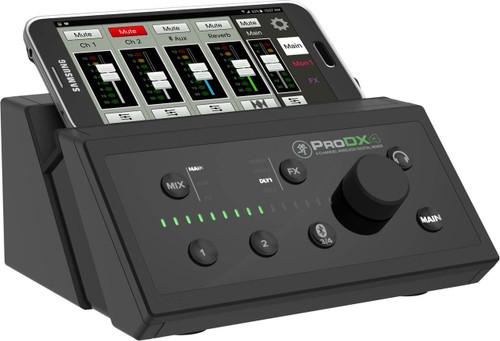 Mackie ProDX4 wireless mixer angle Big Dude's Music City - BigCommerce Control Panel