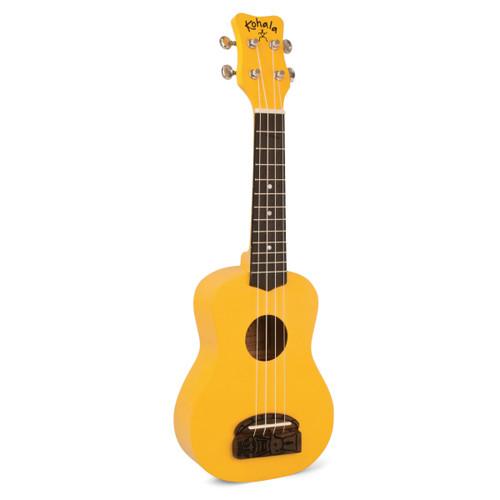 Kohala KT-S Tiki Uke Soprano Ukulele Yellow