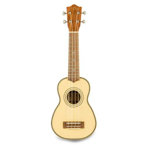 Lanikai SPS-S Spruce Solid Top Morado Back and Side Soprano Ukulele