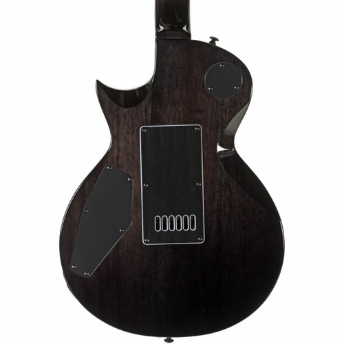 ESP LTD EC-1000 Piezo QM Electric Guitar, See Thru Black (ltd ec1000pqmstblk piezo