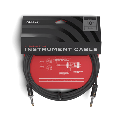 D'Addario 10ft American Stage Instrument Cable