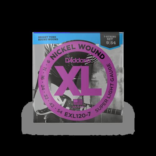 D'Addario EXL120-7 9-54 Strings