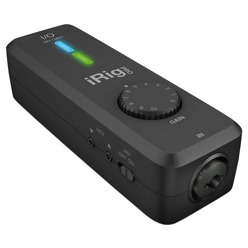 IK MULTIMEDIA iRig Pro I/O Instrument/Microphone interface with MIDI for iPhone/iPad and Mac/PC