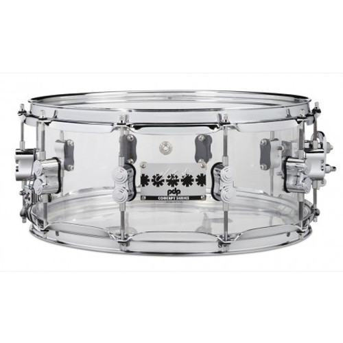 DW PDP Chad Smith Signature Acrylic Snare Drum  14 x 6 Clear