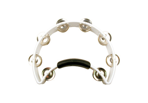 Rhythm Tech RT1020U Standard Tambourine Half Moon - White