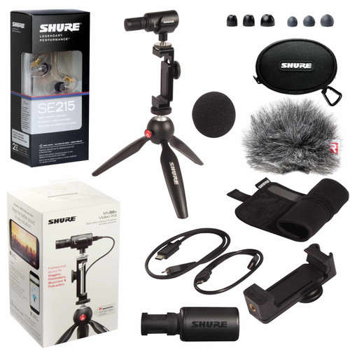 Shure MV88+ Video Kit with SE215 Earphones (MV88+SE215-CL)