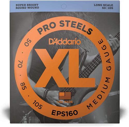 D'Addario EPS160 50-105 Pro Steels Bass Set