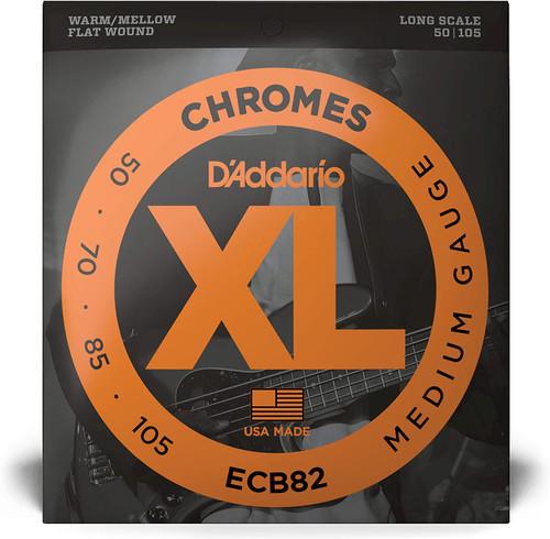 D'Addario ECB82 50-105 Medium Chrome Flatwound Bass Strings