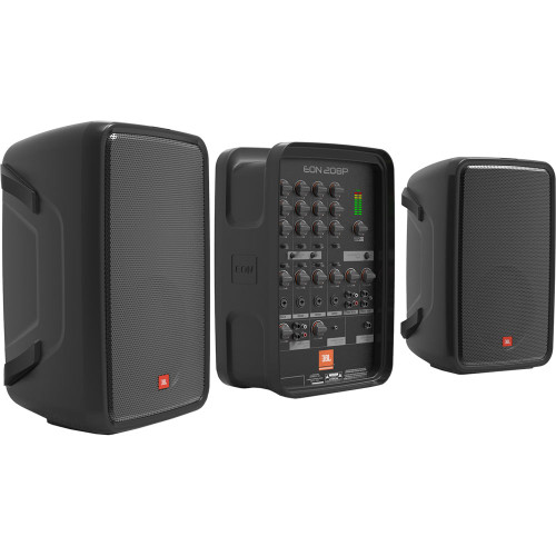 """JBL EON208P Portable 8"""" 2-Way PA with 8-Channel Powered Mixer and Bluetooth"""
