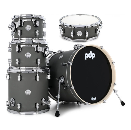 PDP Satin Pewter Concept Maple 5 pc. Shell Pack