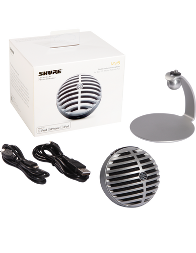 MV5 Digital Condenser Microphone - Silver (MV5LTG)