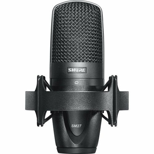 Shure SM27 Large Diaphragm Condenser Microphone with Case, Shockmount, & Bag