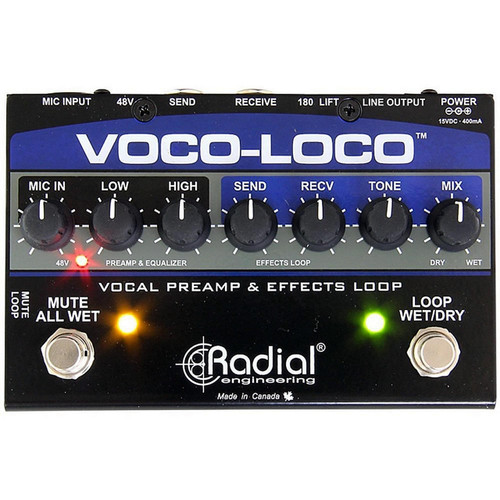 Radial R8001425 Voco-Loco Microphone Effects Loop & Switcher for Guitar effect pedals