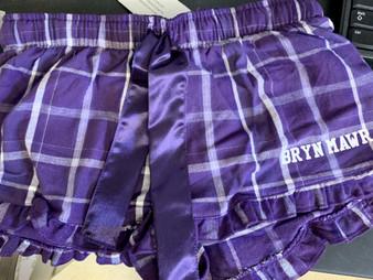 Pajama Shorts Purple Plaid YOUTH