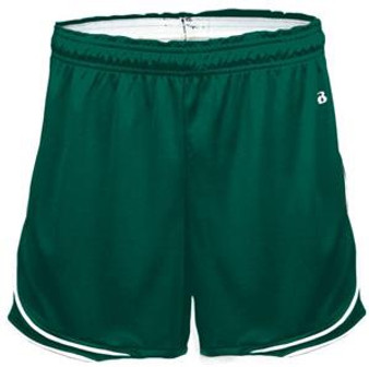 ADULT SMALL/MEDIUM Gym Shorts Green Badger Uniform