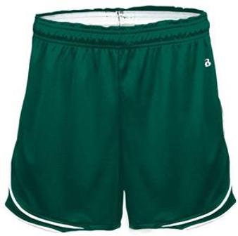 WOMEN'S Gym Shorts XS, L, XL Green Badger Uniform