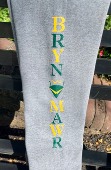 Sweatpants Grey Youth green and yellow