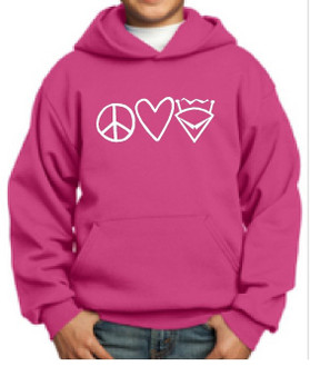 Hoodie Peace, Love, Mawrtian Youth