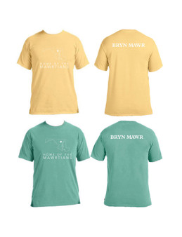 Maryland Outline T Shirt Green, Yellow