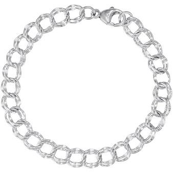 """Charm Bracelet 7"""" LARGE LINK Double"""