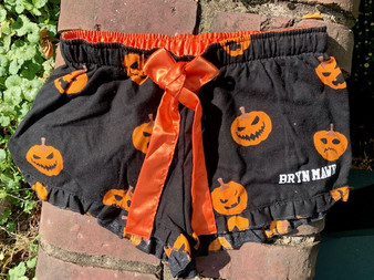 Flannel Pajama Shorts- Pumpkin