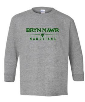 YOUTH Long Sleeve T Shirt BRYN MAWR MAWRTIANS