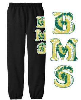 Youth Sweatpants Black w/Tie Dye BMS