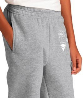 Youth Grey Sweatpants 3 Symbol