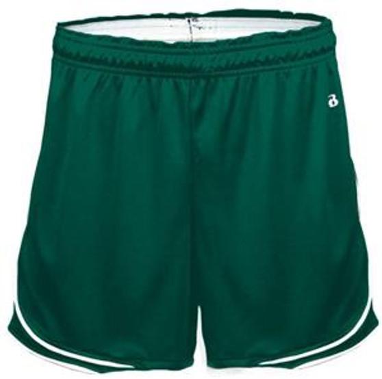ADULT SMALL/MEDIUM Gym Shorts Green Badger Uniform