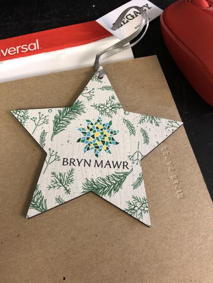 Ornament Wood Star Mosaic