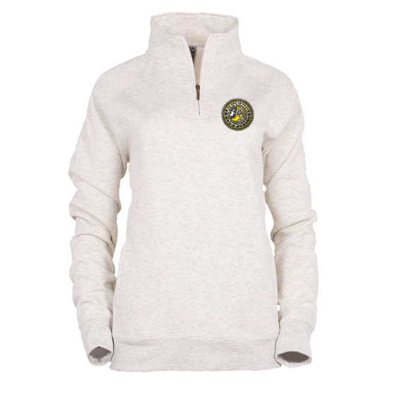 Quarter Zip Oatmeal with Seal ADULT