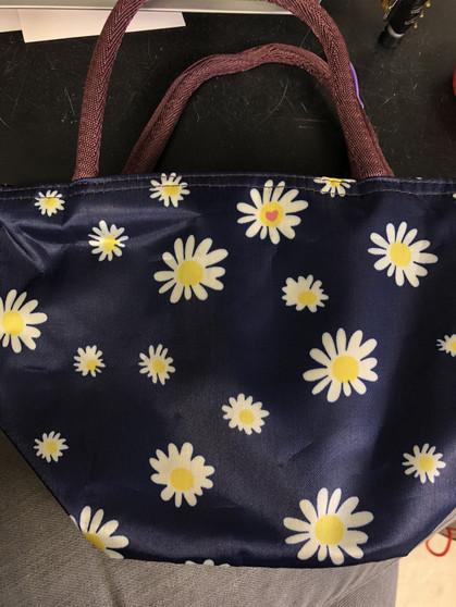 Daisy Shopping/Lunch Bag - Navy Blue