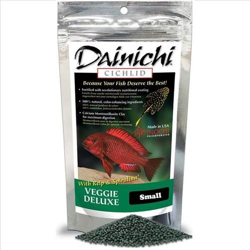 Dainichi Cichlid Veggie Deluxe Sinking Small Pellet Food 8.8 oz