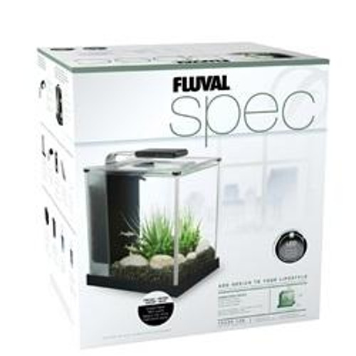 Fluval Spec 10 L (2.6 US gal) - Black - Desktop Glass Aquarium