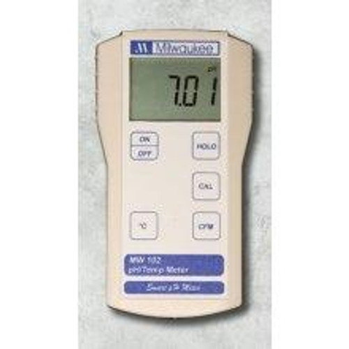 Milwaukee MW102 Economy Portable Ph Meter/Temp 0.00-14.00 pH/0-70C