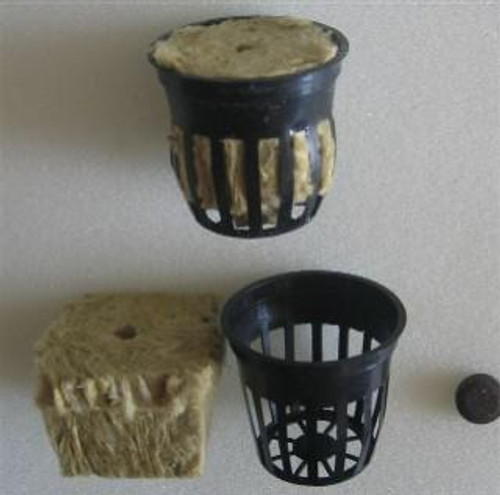 Plastic Mesh Planting Pots & Rock Wool & Booster Tablet