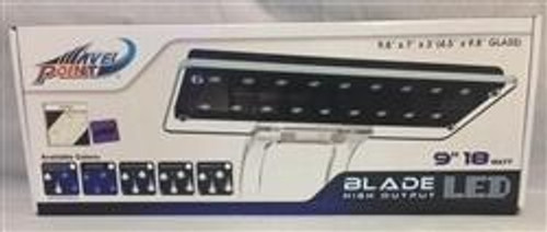 "WavePoint Blade HO LED Fixture 9"" 18 Watt Super Blue/10,000K"