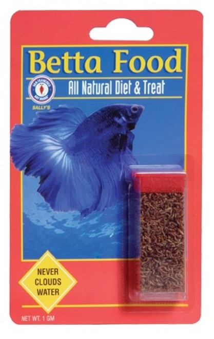 Bay Brand Betta Food 1 Gram Vial (Bloodworms)