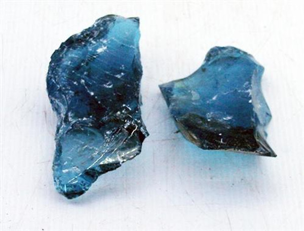 Turquoise Blue Glass Rock (per Pound)