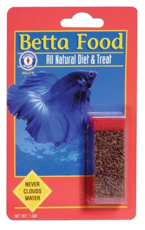 Bay Brand Betta Food 1 Gram Vial (Bloodworms)